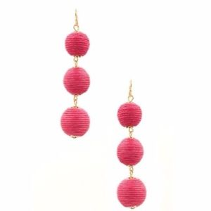 Triple Stack Bon Bon Earrings in Fuchsia